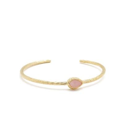 bracelet rose en pierre fine guave quartz, d'Alexandra Margnat
