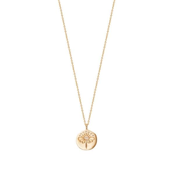 Collier médaille Fleur de Louise Hendricks, cen vente chez Poisson Plume