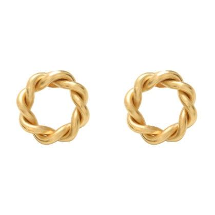 boucles d'oreilles anneaux torsadés Tuileries, par Dear Charlotte