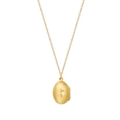 Collier long médaille dorée