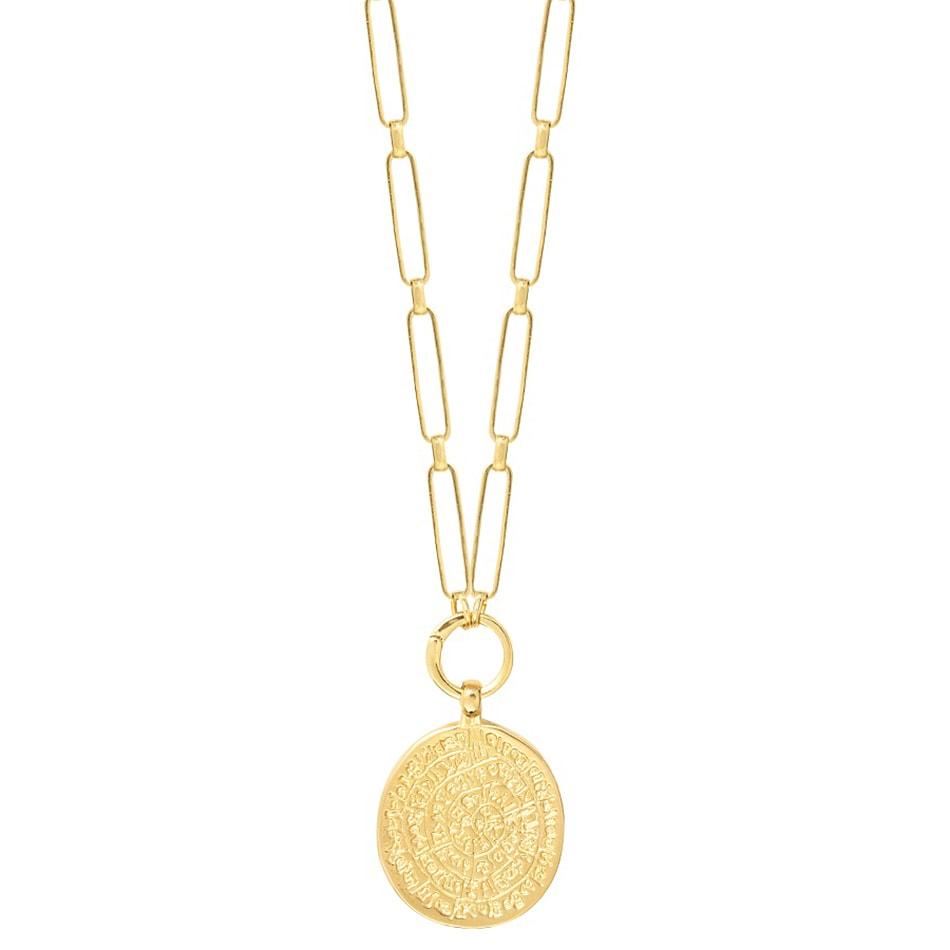 riche et magnifique 60% de réduction grandes variétés Collier médaille Antique