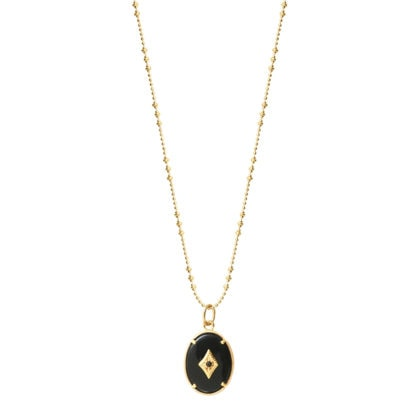 collier long pieere fine Onyx