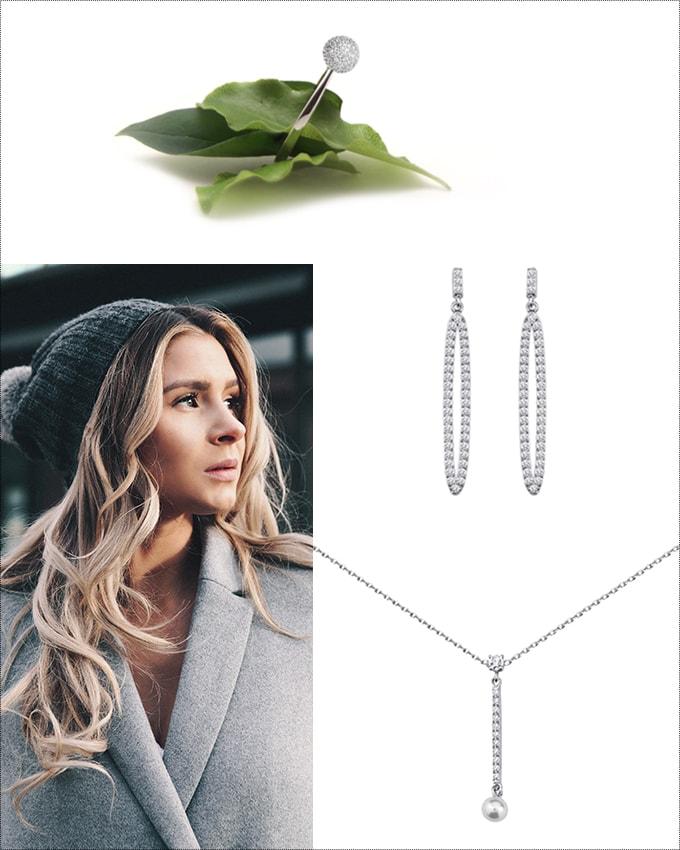 Collier boucles d'oreilles et bague chez Poisson Plume bijoux