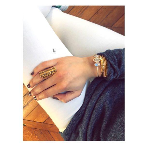 Bague rivoli et bracelet wild