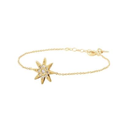 Bracelet étoile Louise Hendricks chez Poisson Plume. Un bijou doré à l'or fin.