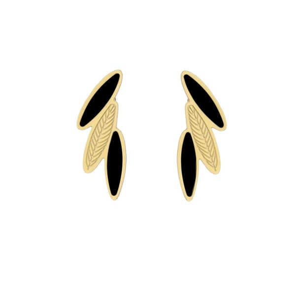 Boucles plumes noires de la collection Amazonia, en vente chez Poisson Plume. Une création Laeti Trema