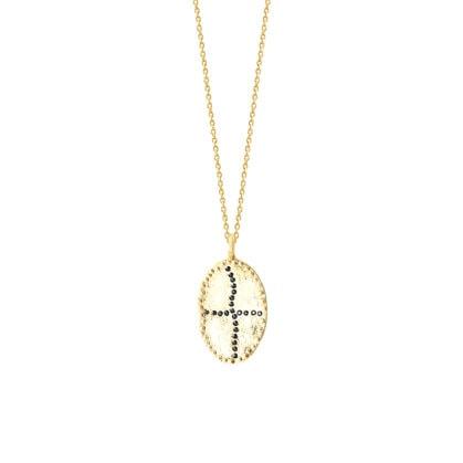 Zoom sur le collier Bazile Black, en vente chez Poisson Plume bijoux