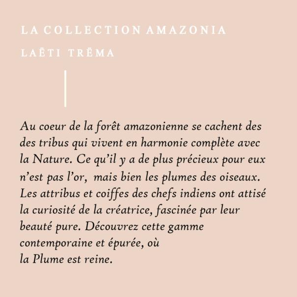 La collection de bijoux Amazonia chez Poisson Plume