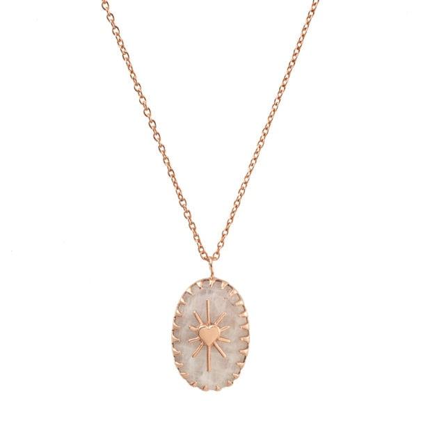 collier amulet blanc irisé Alexiane Bijoux chez PoissonPlume