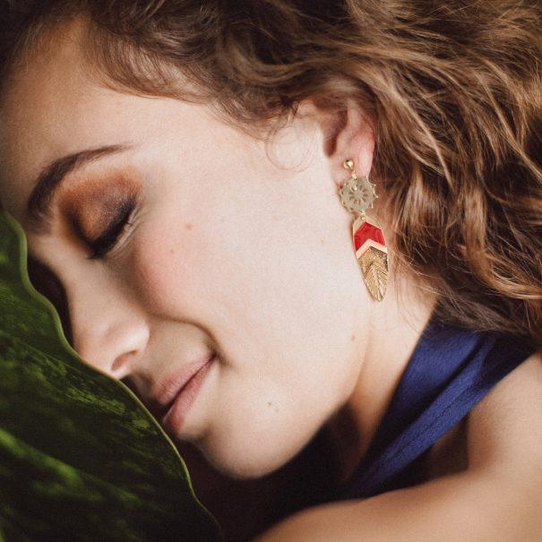 Boucles d'oreilles Plumes Sunshade