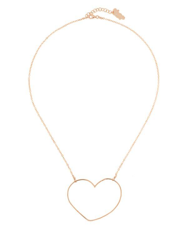 collier coeur Aphrodite d'Alexiane Bijoux. En vente dans la bijouterie de créateurs Poisson Plume