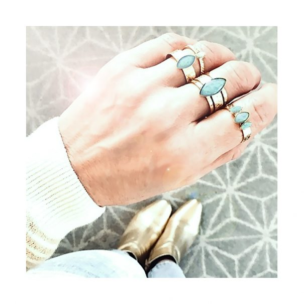 bague joy amazonite chez poissonplume