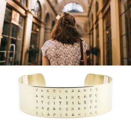 Bracelet paris gravé personnalisé