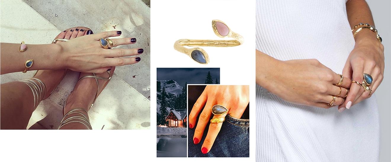 Bijoux gaia pierre fine- Alexandra margnat chez poisson plume bijoux