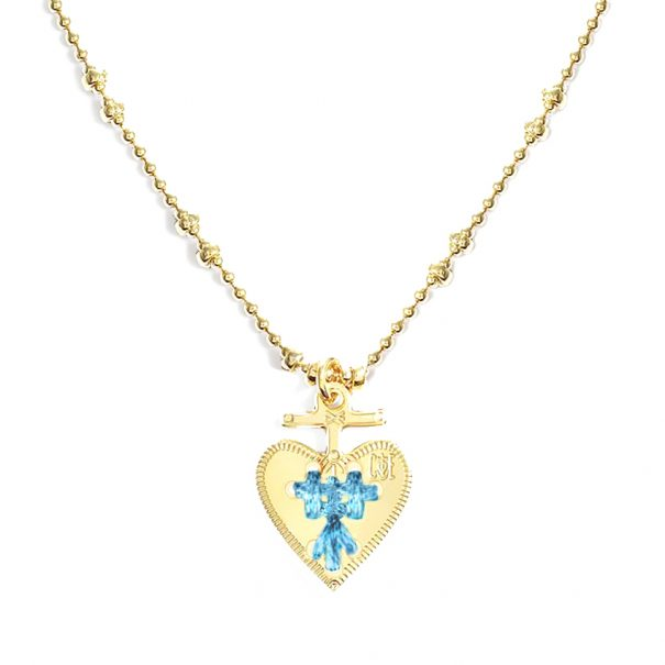 Collier coeur bleu ciel ideal. Une couleur exclusive poissonplume