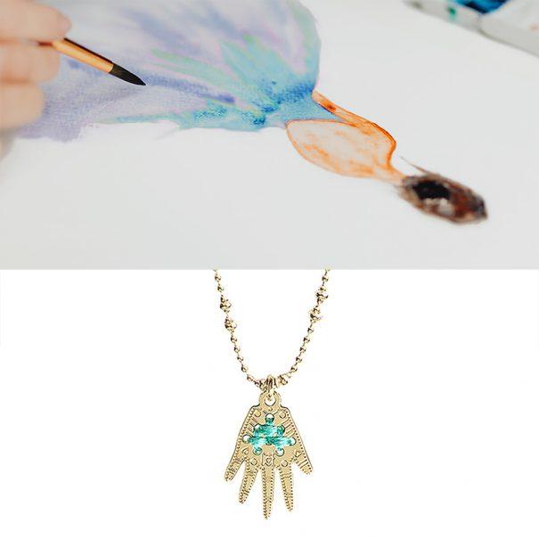 Collier médaille Frida chez Poisson Plume bijoux