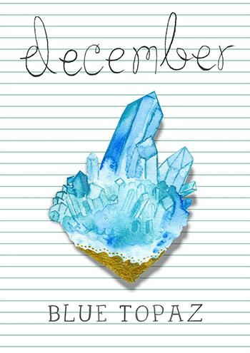 Décembre : la topaze bleue