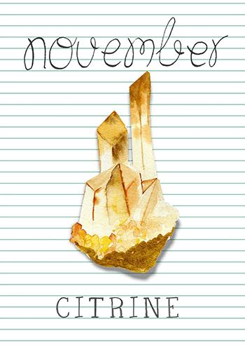 novembre : citrine