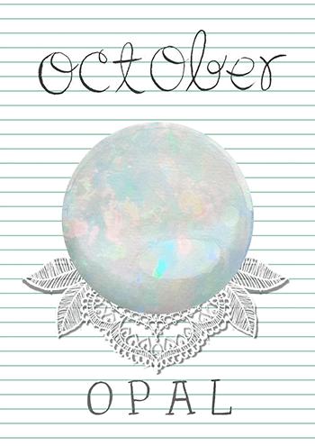 OCTOBRE : l'opale