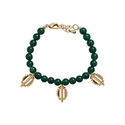 bracelet pampilles agate verte Dear Charlotte Paris