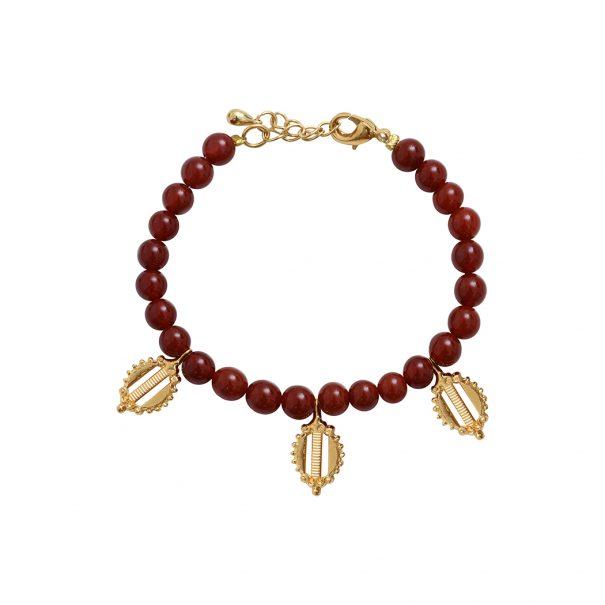 bracelet pampilles cornaline Dear Charlotte Paris