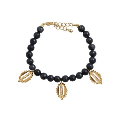 bracelet pampilles onyx Dear Charlotte Paris