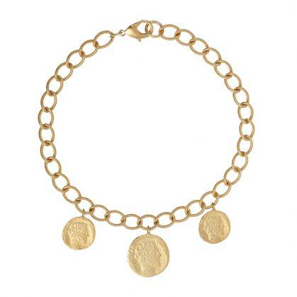 Collier médailles antiques grosse chaîne rahaël Dear Charlotte