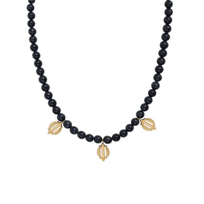 Collier pampilles onyx Dear Charlotte Paris