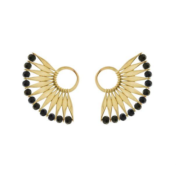 boucles contours d'oreilles plumes awa ebene