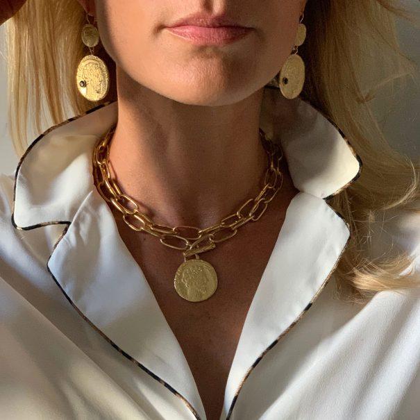 Boucles médailles antiques par Dear Charlotte