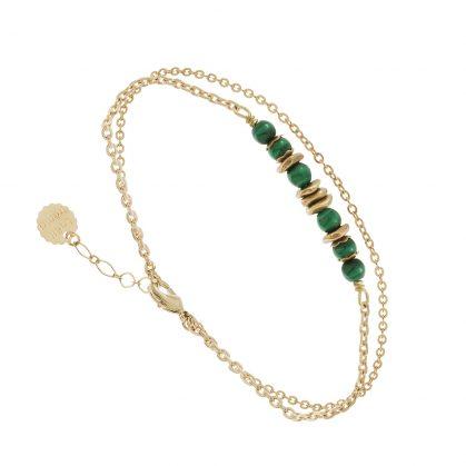 bracelet de créateur en pierres fines malachite Lima