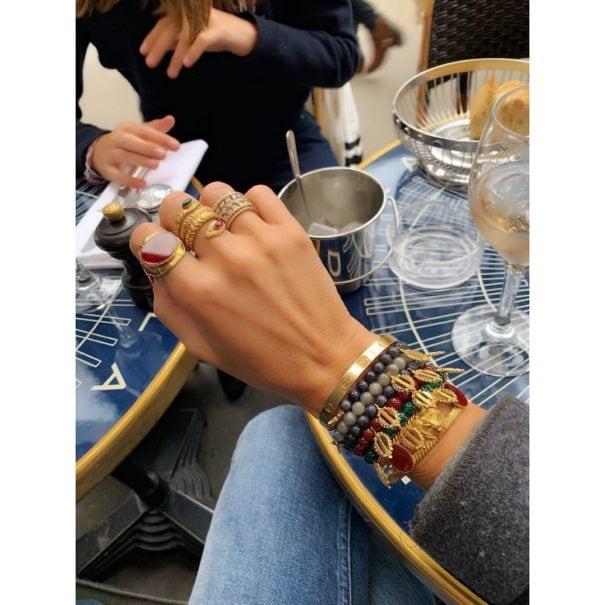 Collection de bijoux donatello agate verte Dear Charlotte