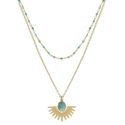 Collier double cuzco Amazonite collection Inca