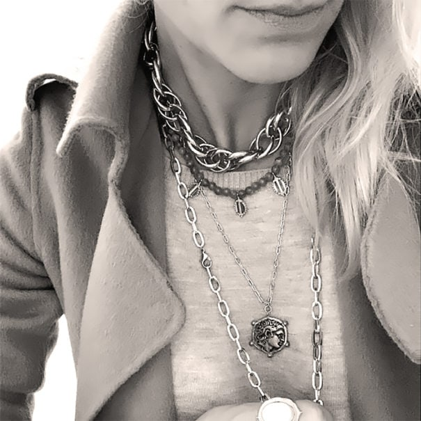 collier donatello noir et blanc