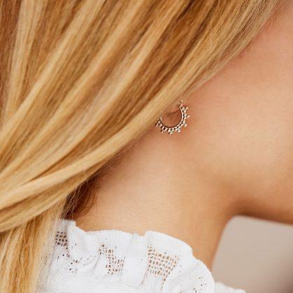 petites créoles perlées argent 925 créateur Agnes de Verneuil