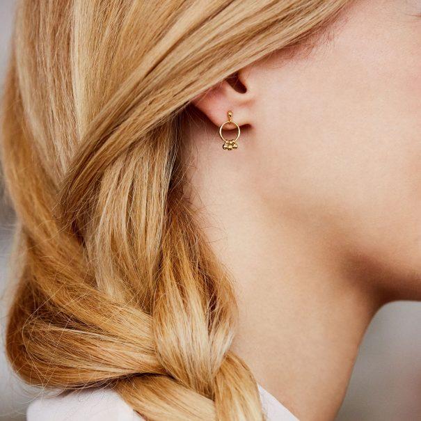 Petites Boucles d'oreilles grelots dorees
