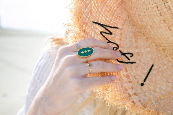 Bague Lana Onyx Vert Be Maad créations