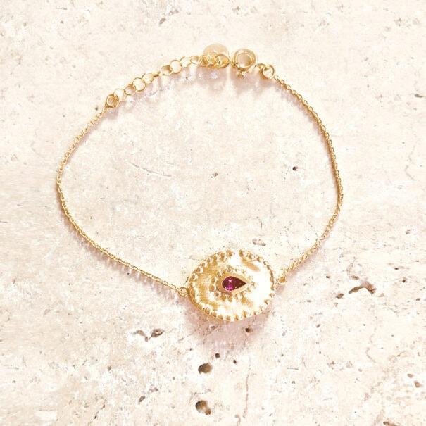 bracelet verine pierre fine - bijou de créateur - paris