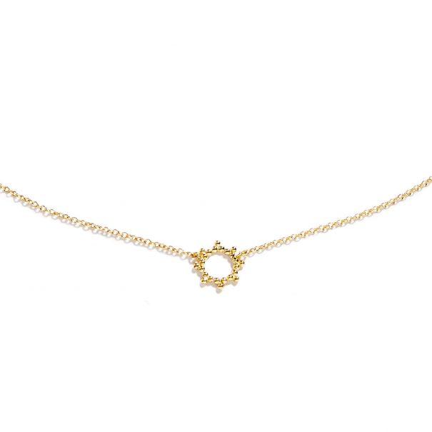 Collier de créateur doré or soleil - détail