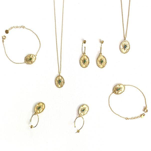 Collection de bijoux verine émeraude - Louise hendricks chez poisson plume bijoux