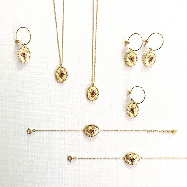 Collection de bijoux Verine Pierres fines - Louise hendricks chez Poisson Plume