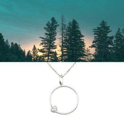 collier cercle coeur argent 925