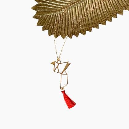 Collier hogara colombe origami