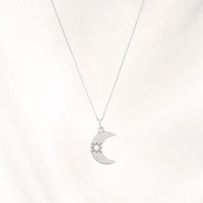 collier lune poissonplume bijoux