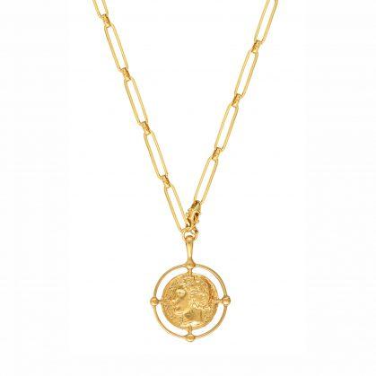 Collier médaille cesar plaque or