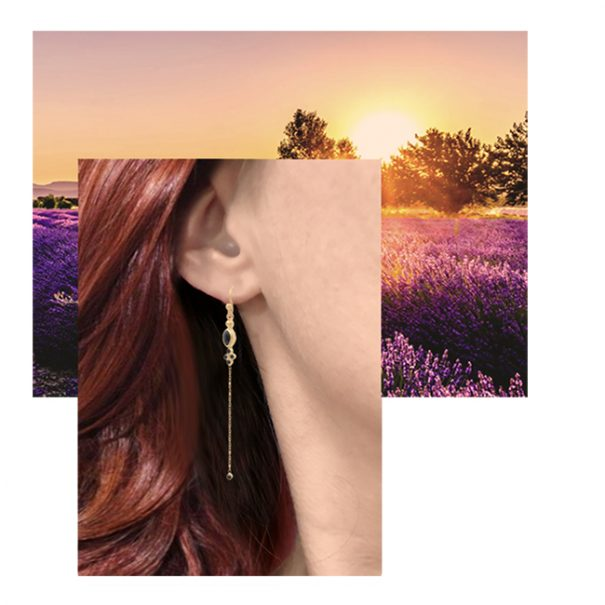 Boucles d'oreilles Gisella onyx pendantes