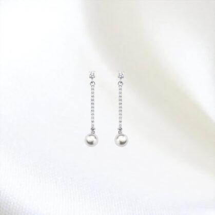boucles perles argent