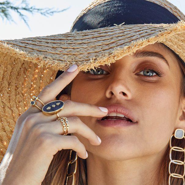 Bague Lana Onyx texturé bijoux be maad