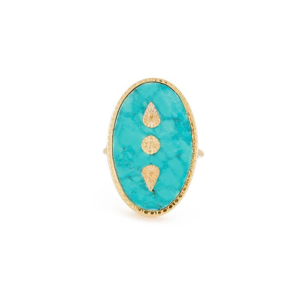 bague lana turquoise chez poisson plume bijoux