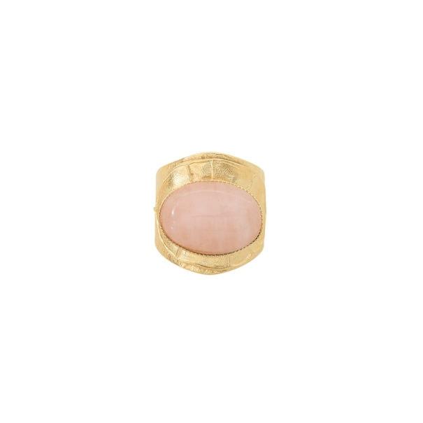 bague quartz rose dahlia